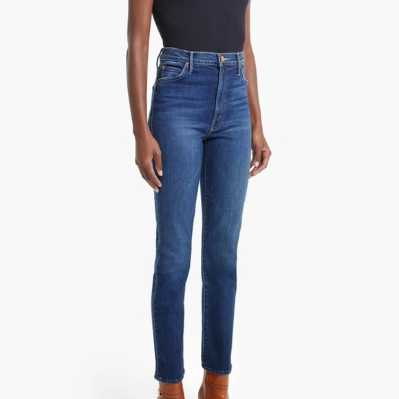 MOTHER GREAT COND RASCAL LONG SKINNY STRETCH JEANS